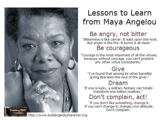 Lessons to Learn from Maya Angelou
